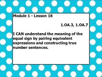 Eureka math module 1 lesson 18 first grade