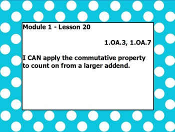 Eureka math module 1 lesson 20 first grade