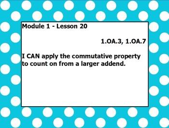 Eureka math module 1 lesson 20 first grade
