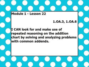 Eureka math module 1 lesson 22 first grade