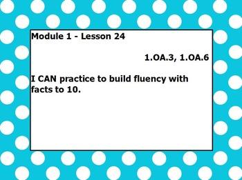Eureka math module 1 lesson 24 first grade
