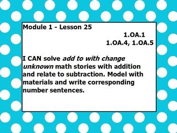Eureka math module 1 lesson 25 first grade