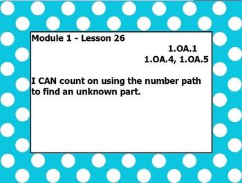 Eureka math module 1 lesson 26 first grade