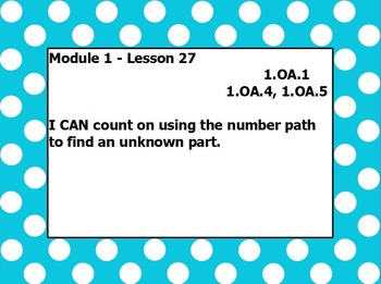 Eureka math module 1 lesson 27 first grade
