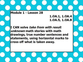 Eureka math module 1 lesson 28 first grade