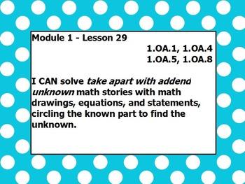 Eureka math module 1 lesson 29 first grade