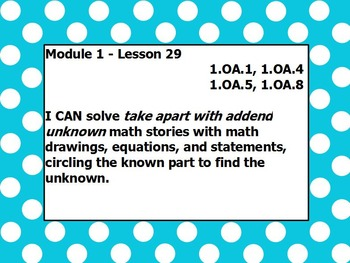 Eureka math module 1 lesson 29 first grade