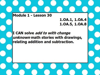 Eureka math module 1 lesson 30 first grade