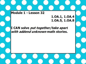 Eureka math module 1 lesson 32 first grade