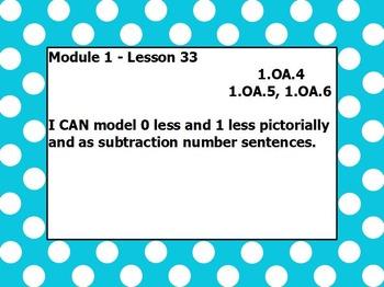 Eureka math module 1 lesson 33 first grade