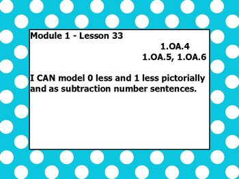 Eureka math module 1 lesson 33 first grade