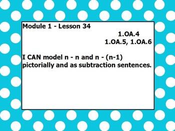 Eureka math module 1 lesson 34 first grade