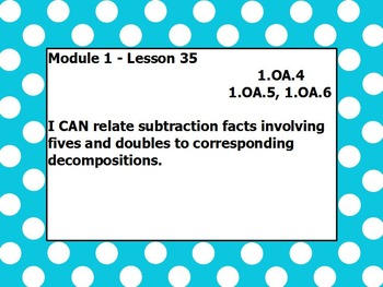 Eureka math module 1 lesson 35 first grade
