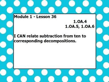 Eureka math module 1 lesson 36 first grade