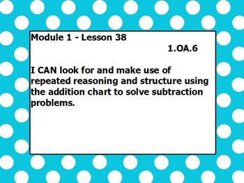 Eureka math module 1 lesson 38 first grade