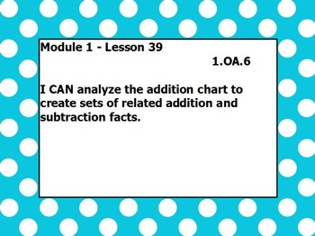 Eureka math module 1 lesson 39 first grade