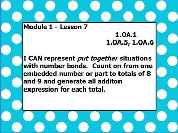 Eureka math module 1 lesson 7 first grade
