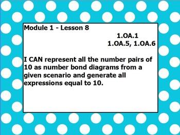 Eureka math module 1 lesson 8 first grade