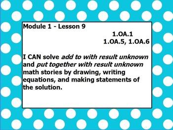 Eureka math module 1 lesson 9 first grade