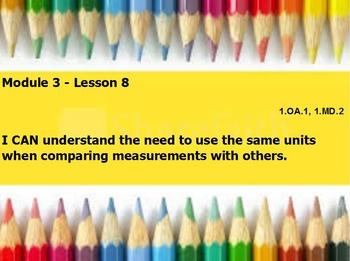 Eureka math module 3 lesson 8 first grade