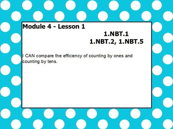 Eureka math module 4 lesson 1 first grade