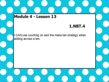 Eureka math module 4 lesson 13 first grade