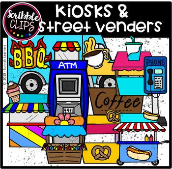 Kiosks & Street Venders (scribble clips)