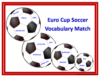 Euro Cup Soccer Vocabulary Match