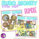 Euro Money Coins and Notes Bundle Clip Art