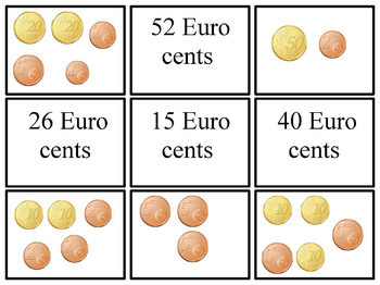Euro Money Counting Cards Game