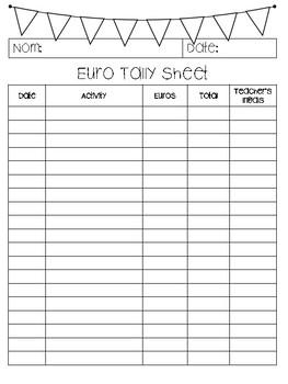 Euro Tally Sheet