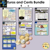 Euro and Euro Cents Money: PowerPoint, Worksheets, Word Pr