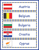 Europe Geography - European Countries Word Wall