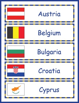 Europe Geography Word Wall