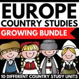 Europe Continent Study Unit Mini Book