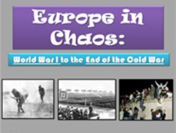 Europe 20th Century 6th Grade Social Studies GPS H7 WWI_Cold War