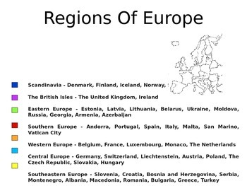 Europe - A World Region PowerPoint