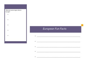 Europe Activity (Make a Brochure)