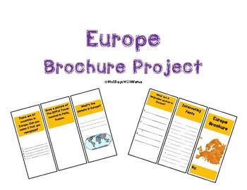 Europe Activity (Make a Brochure)