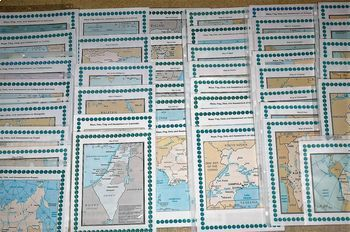Europe, Africa, Asia, South and North America Geography Maps, Flags - Bundle