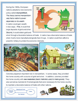 """""""Capitalism & Mercantilism in the Age of Exploration"""" + Assessment"""