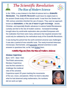 """""""The Rise of Modern Science"""" + Assessment"""
