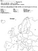 Europe-Around the world in third grade Study Guide (Differentiated)