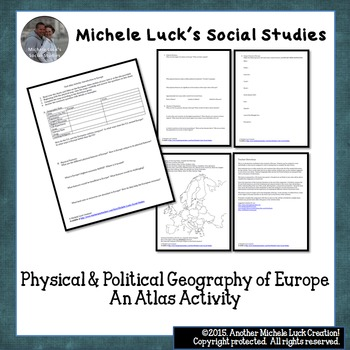 Europe Atlas Activity for Physical & Political Geography