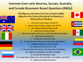 Europe, Australia, Latin America, and Canada - 625 Document Based Questions!