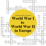 Europe Between World War I and World War II Crossword Puzzle