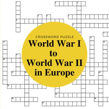 Europe Between World War I and World War II Crossword Puzzle