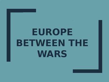 Europe Between the Wars PowerPoint
