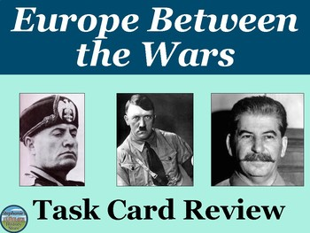 Europe Between the Wars Task Card Review