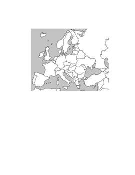 Europe Blank Map Exercise